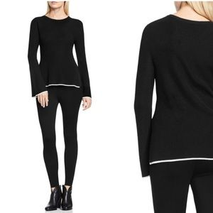 Vince Camuto Tipped Bell Sleeved Sweater